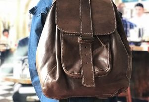 Handmade Leather Backpack - mens