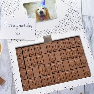 Chocolate 50th Birthday Card - chocolates
