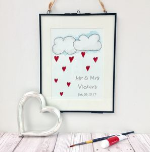 Hand Painted And Embroidered, Personalised Artwork - prints & art sale