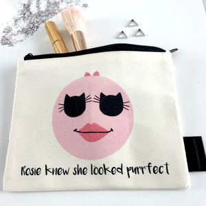 'Purrfect Face' Cat Lovers Make Up Bag