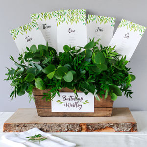 Secret Garden Table Plan And Table Number Cards - table plans
