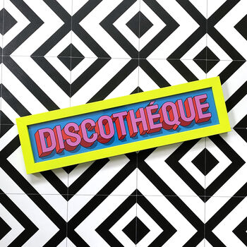 'Discotheque' Limited Edition Framed Print Custom Neon