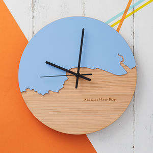 Coastline Wooden And Acrylic Clock