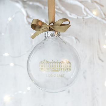 Personalised Company Corporate Logo Christmas Bauble