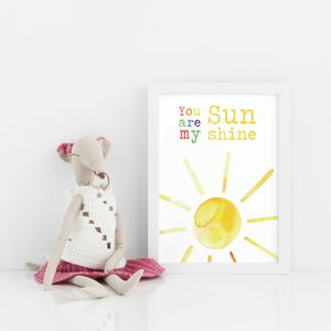 You Are My Sunshine Nursery Print