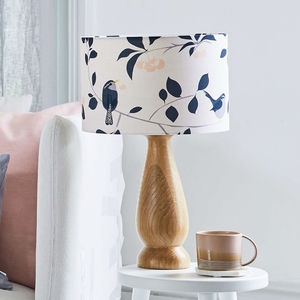 Blue And Pink Bird Lampshade - dining room