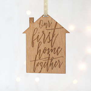 'First Home Together' Decoration - tree decorations