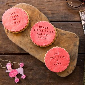 The Love Song Lyric Biscuit Gift Box - cakes & sweet treats
