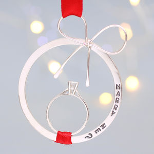 'Will You Marry Me?' Keepsake Christmas Decoration