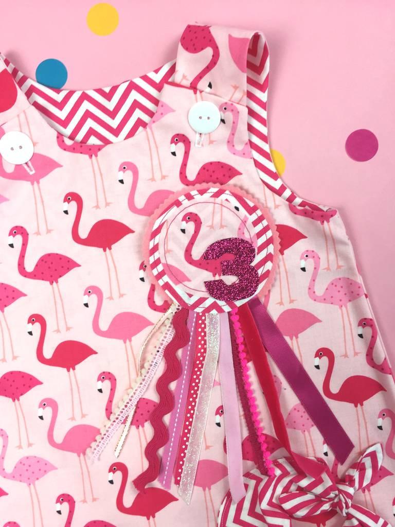8032f64e0 handmade girls flamingo birthday rosette badge by lily & giraffe ...