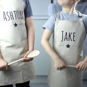Personalised Kids Star Apron - children's cooking