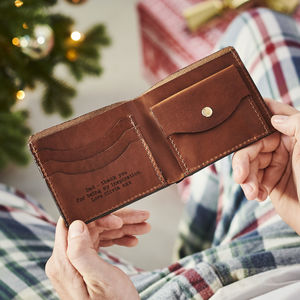 Secret Message Leather Wallet - luxury leather accessories