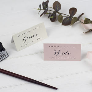 Modern Calligraphy Wedding Place Cards - table decorations