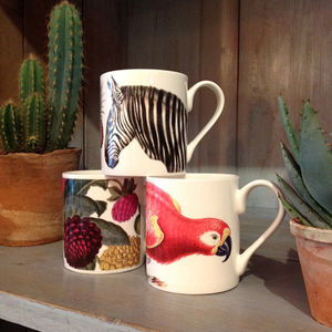 Bone China Natural History Mugs