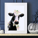 Cow Wildlife Botanical Art Print
