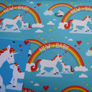 'Ele Or Unicorn Wrapping Paper', 'New Baby Gift Wrap'