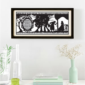 Snow White's Mirror Signed Papercut Print