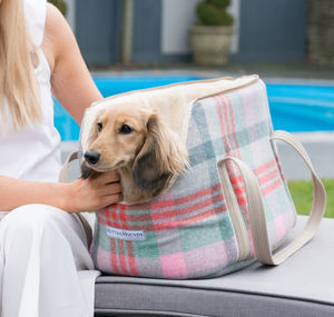 Macaroon Check Tweed Dog Carrier - view all new