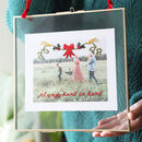 Personalised Embroidered Christmas Style Family Photo