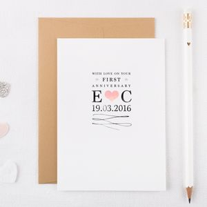 Personalised First Anniversary Card - shop by occasion