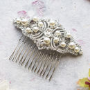 Luella Crystal And Pearl Hair Comb