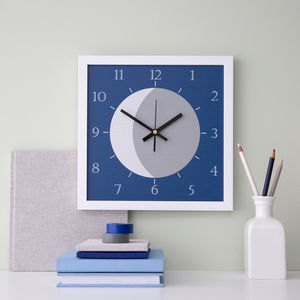 Moon Kiddie Wall Clock