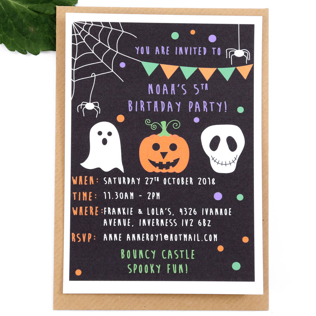 Halloween Childrens Party Invitations