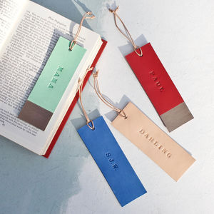 Handmade Leather Personalised Bookmark