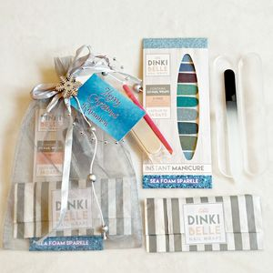 Personalised Sparkly Blue Nails Christmas Gift Set - christmas gift sets