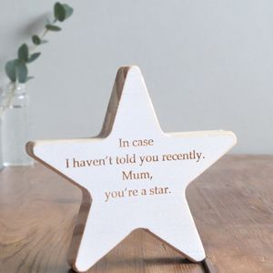 Personalised Wooden Star Keepsake - christmas decorations