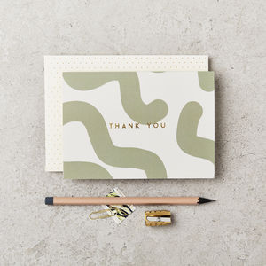 Green Mallow Thank You Card