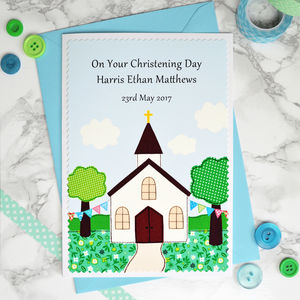 Personalised Christening Card / Baptism Card - christening cards