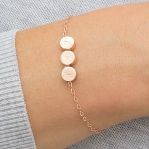 Personalised Triple Thea Disc Bracelet - gifts for teenagers