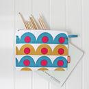 Pencil Case With Scallop Design