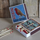 Pine Cone Firelighters And Luxury Match Box Gift Set