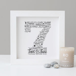 Personalised 7th Anniversary Print - posters & prints