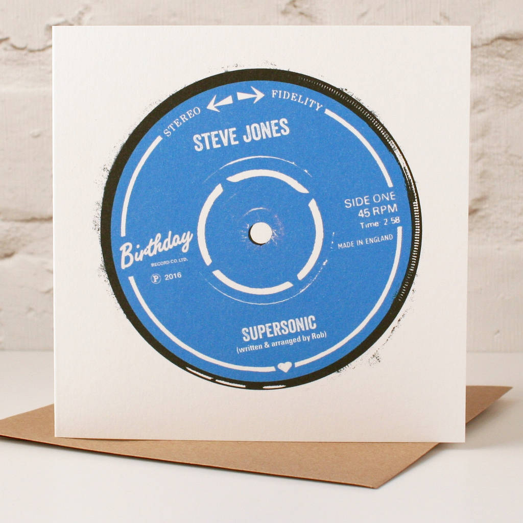 Personalised Record Label Birthday Card By The Design