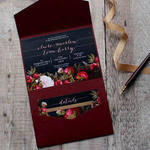 Dark Bohomian Wedding Invitation Suite
