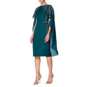 Green Cape Midi Dress