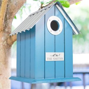 Personalised Wood And Metal Bird House - what's new