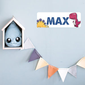 Personalised Bedroom Door Plaque Dinosaurs - decorative accessories