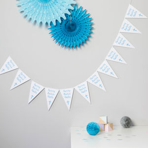 Personalised Christening Bunting - baby's room