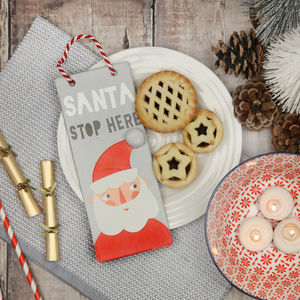 Christmas Santa Stop Here Door Sign - christmas sale