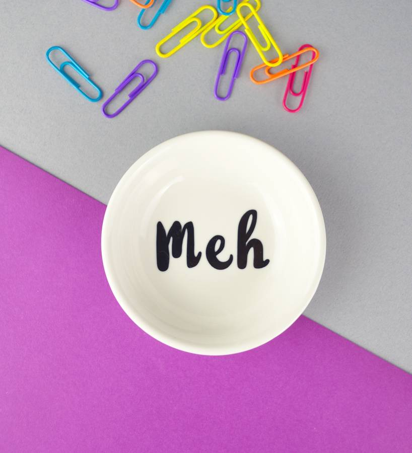 Teenage Girl Birthday Gift Meh Yolo Or Swag Mini Dish By Not A