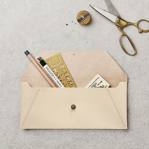 Hide Leather Pouch Nude