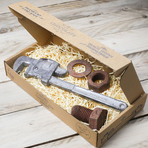 Chocolate Monkey Wrench, Nut And Bolt Gift Box