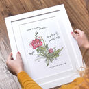 Birth Month Flower Print