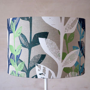 Big Leaf Printed Lampshade