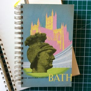 'Bath' Upcycled Notebook