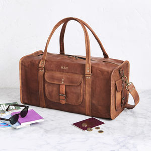 Leather Duffel Travel Bag - 30th birthday gifts
